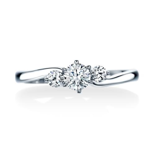 ロイヤルアッシャー婚約指輪写真
