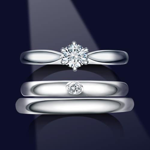ロイヤルアッシャー結婚指輪写真